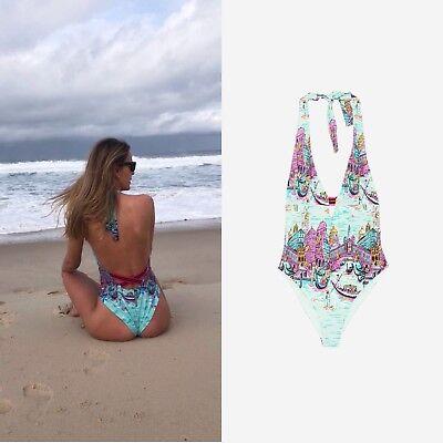Zara 2018 Celeb Studio Gondola Print Swimsuit Size S_m Ref.5410/005 Komplette Artikelauswahl
