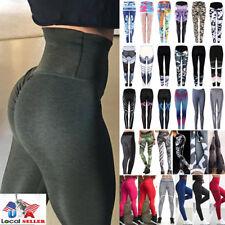 US Women Sexy Push Up Yoga Pants Sport Gym Skinny Leggings Fitness Trousers M620