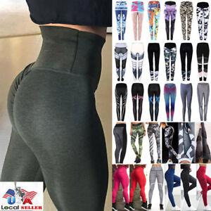 US-Women-Sexy-Push-Up-Yoga-Pants-Sport-Gym-Skinny-Leggings-Fitness-Trousers-M620