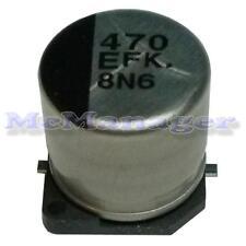 5x Panasonic 470uF 25V SMD Electrolytic Capacitor 105C 20% Low Impedance