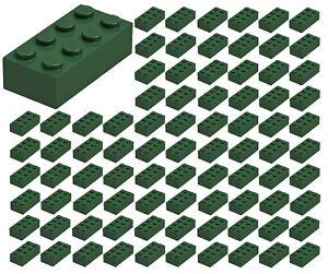 ID 3001 BULK Parts star wars city town ☀️50x NEW LEGO 2x4 REDDISH BROWN Bricks