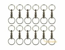 Lot of 12 Detachable Keychains Pull Apart Quick Release Removable Key Rings USA