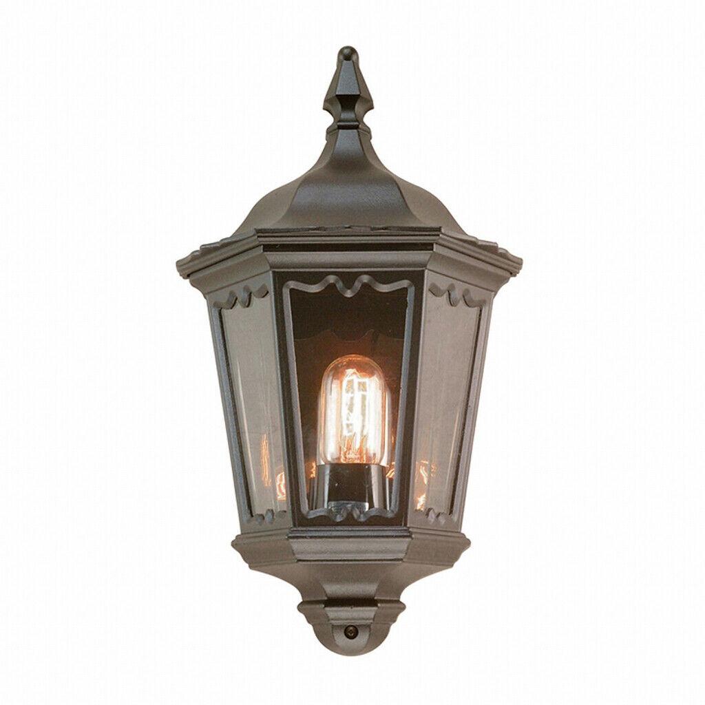 Schmiedeeiserne Wandlampe CARTER IP43 Rustikal E27 Außen Leuchte Haus Tür Balkon
