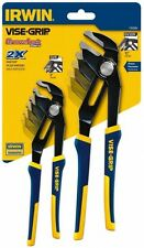 IRWIN 1802533 GrooveLock 8 in. V-Jaw and 10 in. Straight-Jaw Pliers Set(2-Piece)