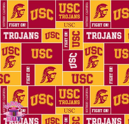 NCAA University of Southern California USC Trojans Fleece Fabric By the Yard