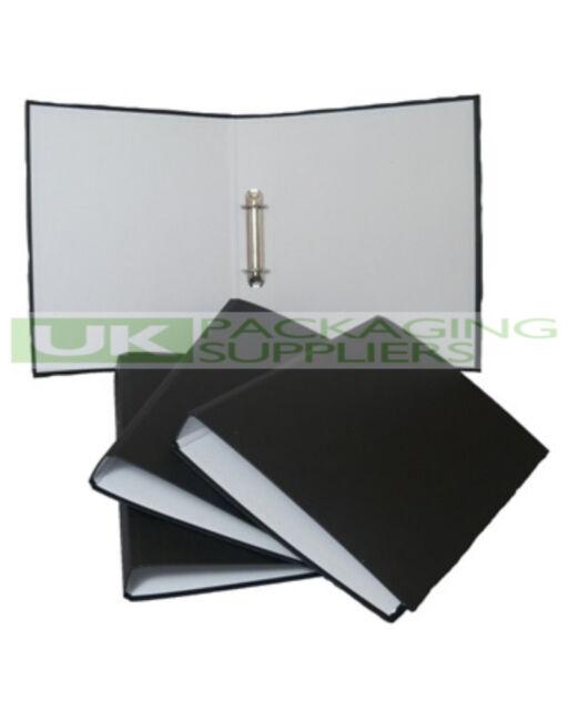 1 QUALITY BLACK A4 SIZE RING BINDER FILE FOLDER MAX 200 SHEETS FILING STORAGE