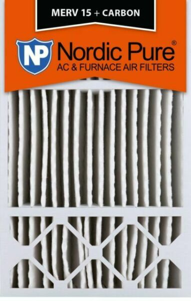 4-3//8 Actual Depth Nordic Pure 20x20x5 Box of 4 Honeywell Replacement MERV 8 Pleated AC Furnace Air Filter