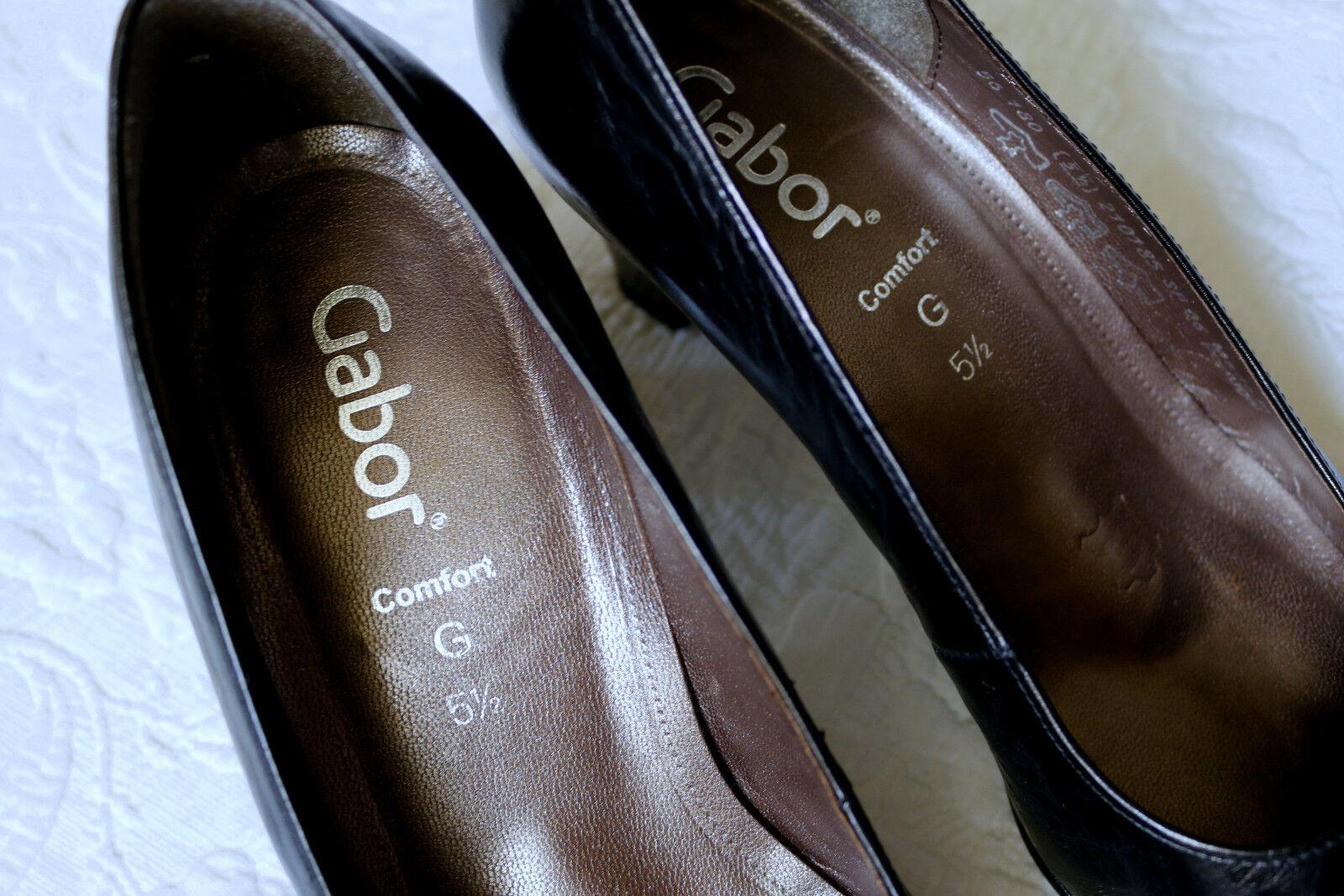 GABOR Comfort elegante Business-Pumps Gr.5,5 - Leder 38,5 G Leder Leder - WIE NEU 6ad626