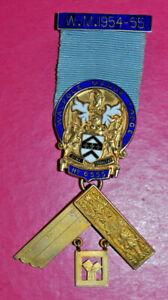 Masonic Past Master's Jewel Walpole Manor Lodge No 6555 sterling silver hallmark