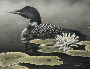 5-034-Serenity-Loon-034-30x16-Canvas-Print-by-Robert-Metropulos
