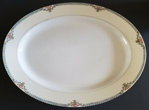 Noritake-Cortez-Oval-Serving-Platter-Hand-Painted-14-034-Made-In-Japan