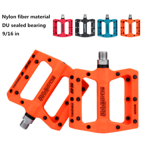NEW-Nylon-Fiber-Mountain-bike-pedals-Road-MTB-BMX-Bicycle-pedals-Flat-Platform