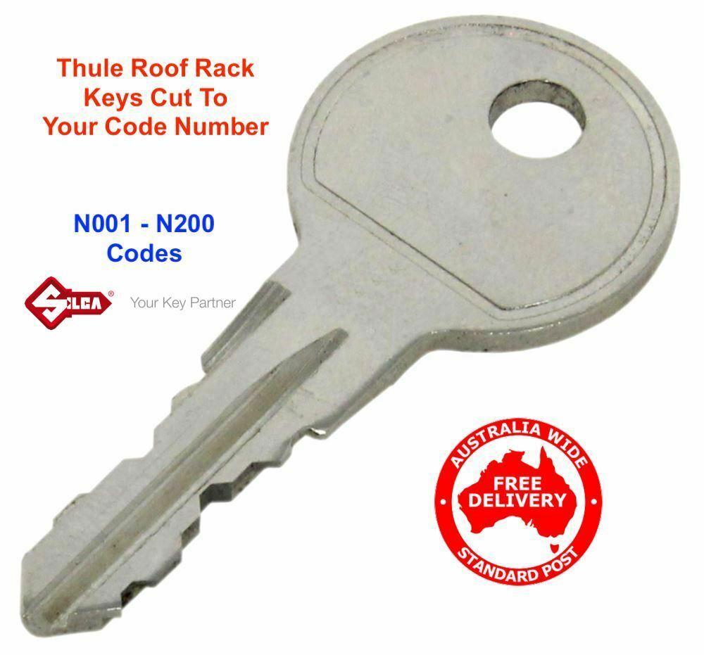 2 Thule Original OEM Replacement KEY Car Racks N081-N090 PAIR KEYS
