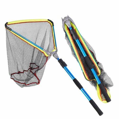 Telescopic Fishing Landing Net Big Hand Cast Folding Pole Network Trap 185cm