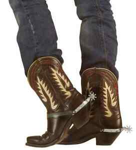 Details about COWBOY SILVER BOOT SPURS PLASTIC WESTERN INDIAN ACCESSORY  FANCY DRESS ACCESSORY