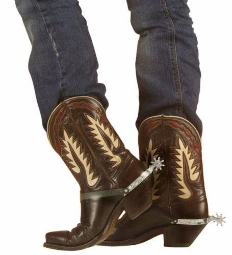 Cowboy Stivale Argento SPERONI Western in Plastica Accessorio Indiano Costume Accessorio