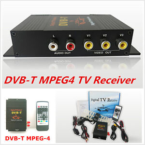 HD DVB-T MPEG4 TV Receiver Box Tuner Dual Antenna Car Mobile Digital TV Top Box