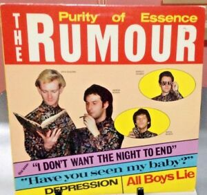 THE-RUMOUR-Purity-of-Essence-Album-Released-1980-Vinyl-Record-Collection-US-pre