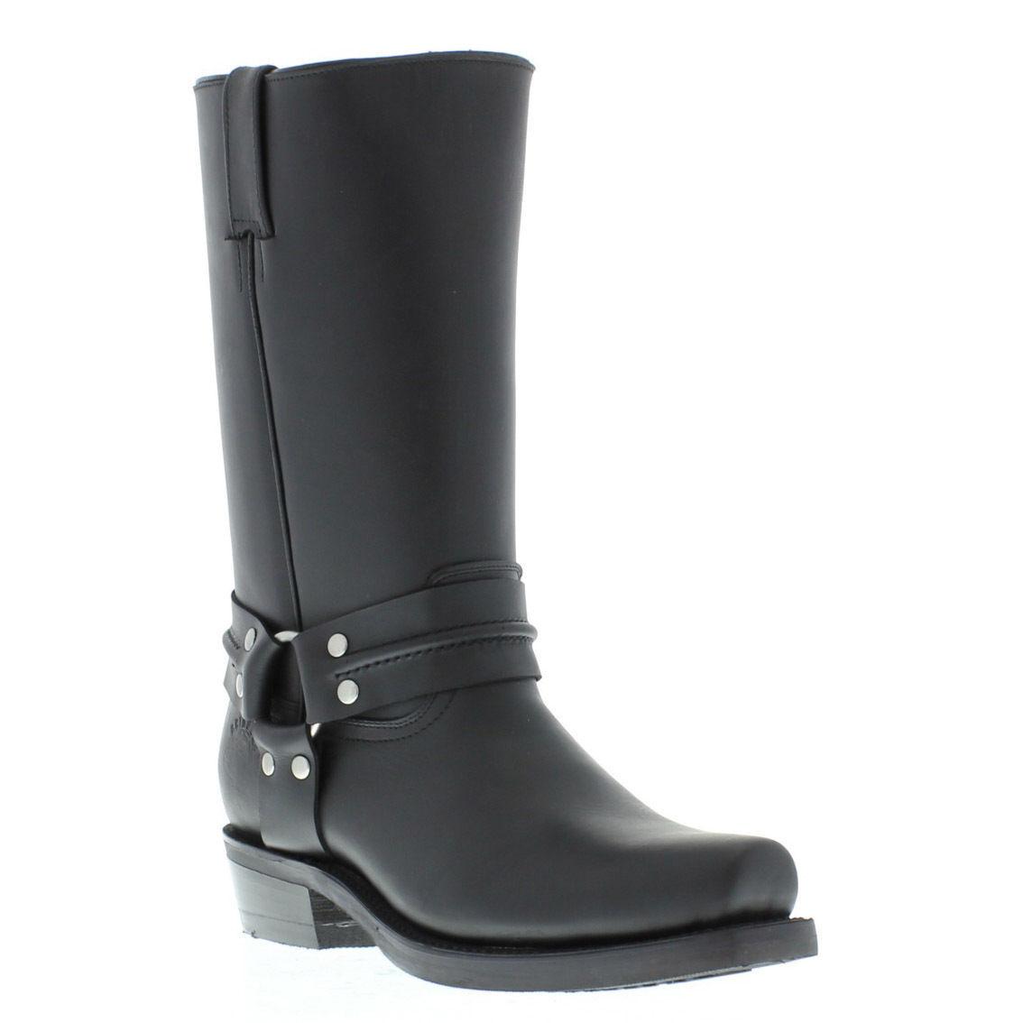 Grinders Renegade Hi Negro Unisex botas de Cuero Cowboy Oeste Motero botas Altas