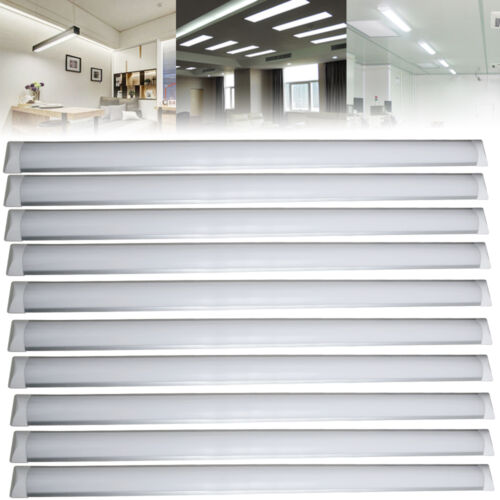 2//4//10X 4FT 36W LED Batten Tube Light Surface Mount Wall Ceiling Cool White US