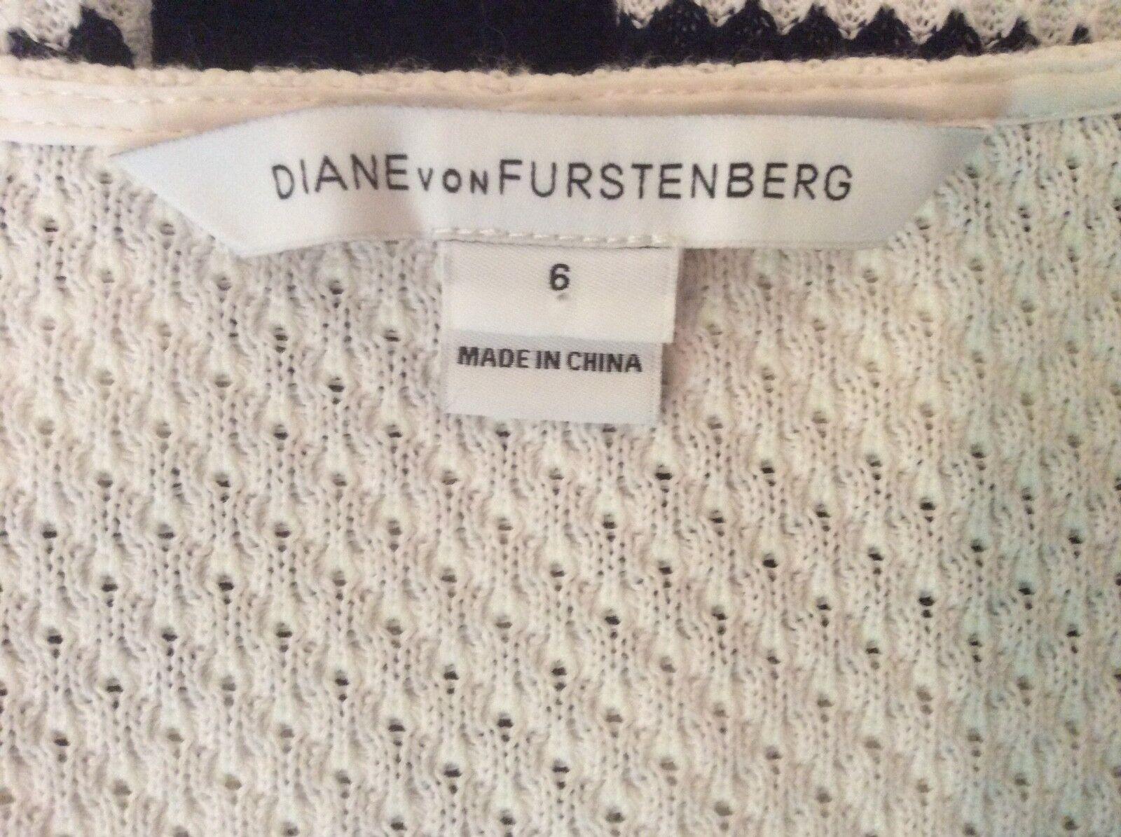 Diane Von Von Von Frustenberg DVF Blac Stripe Print Tunic Shift Dress 6 NWOT 4bad62
