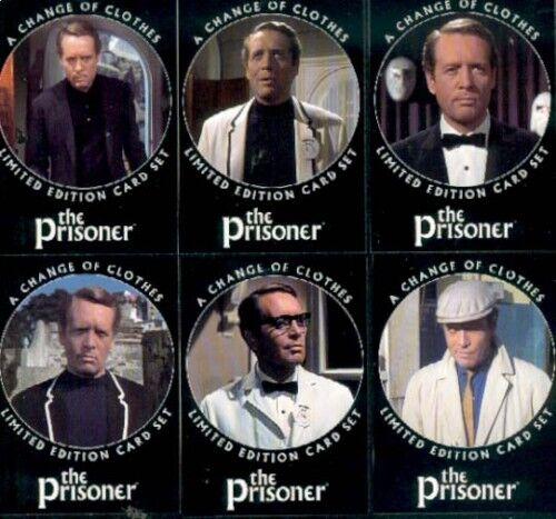 PATRICK McGOOHAN THE PRISONER 6 CARD PROMO FAN CLUB SET CARDS INC DANGER MAN ITC
