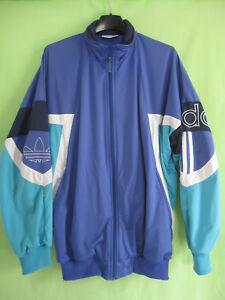 Détails sur Veste Adidas Trefoil 90'S Polyester Vintage Vert violet Jacket Sport 174 M