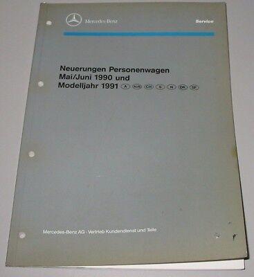Werkstatthandbuch Mercedes W 124 126 S-Klasse R 129 SL 201 Neuerungen Einführung
