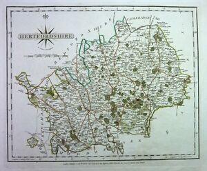 Antique-map-Hertfordshire