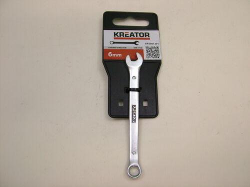 offset ring end Combination spanner 6mm chrome vanadium steel Kreator brand