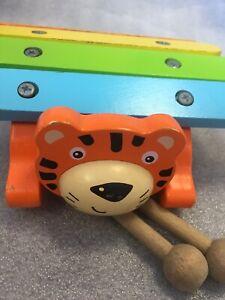 Carrousel En Bois Tigre Xylophone Enfants Musical Instrument-éducatif-afficher Le Titre D'origine Vente D'éTé SpéCiale