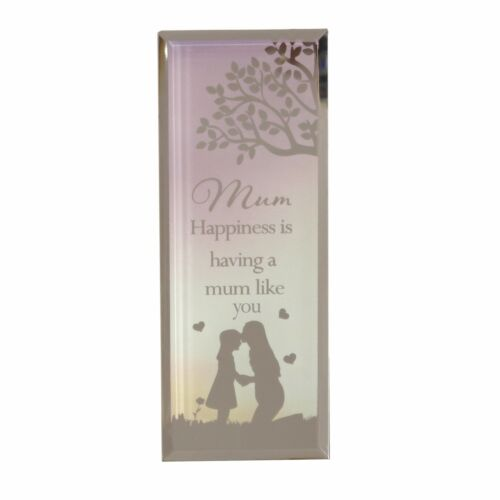 Mirrored Standing Plaque Gift 61832 Mum Sentiment