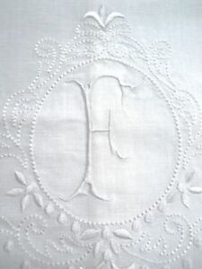 Large-White-Linen-Guest-Bathroom-Hand-Towel-monogrammed-F-hemstitched-whites