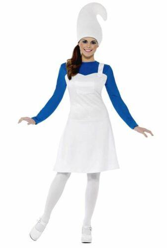 SMURF STYLE LADIES GARDEN GNOME FANCY DRESS COSTUME SMIFFY/'S 23991