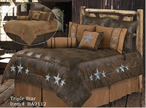 Triple Star Western 5 Piece Super Size Comforter Bedding Set FREE SHIPPING