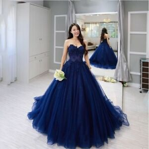 93f1c79554e 2019 Royal Blue Long Prom Dress Ball Gown Formal Evening Gown ...