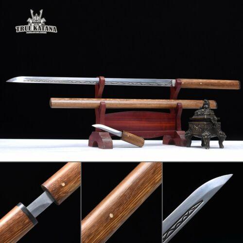 Natural Wood Assembly Straight Shirasaya Katana Real Ninjato Cool Ninja Swords