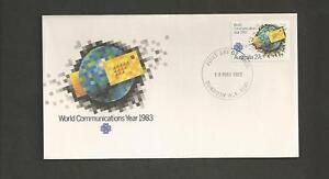 AUSTRALIA-1983-World-Communications-Year-FDC
