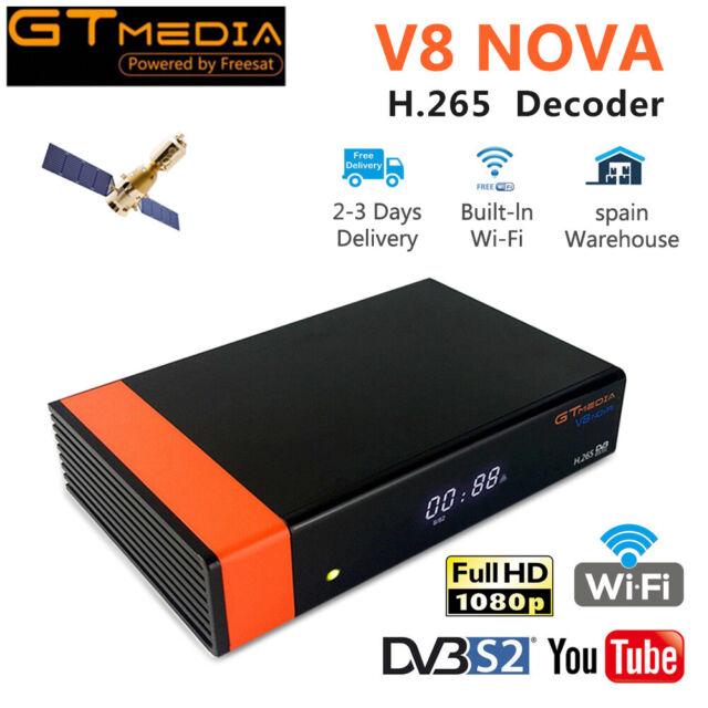 Gtmedia Built Wifi V8 Nova (New V8 Super) DVB-S2 Satellite TV Receiver Decoder