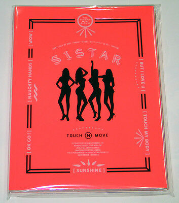 SISTAR - Touch & Move (2nd Mini Album) CD+Photocard+Poster