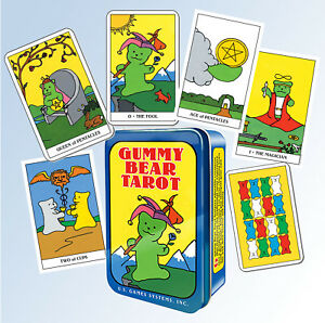 Adorable-GUMMY-BEAR-TAROT-Deck-78-Cards-Tin-Box-Booklet-Fortune-Telling