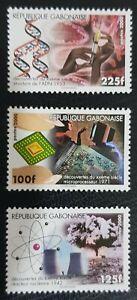 Gabon 2000 Yt 1009 / 11 Decouvertes Discoveries 20 Th Century Dna Computer Mnh