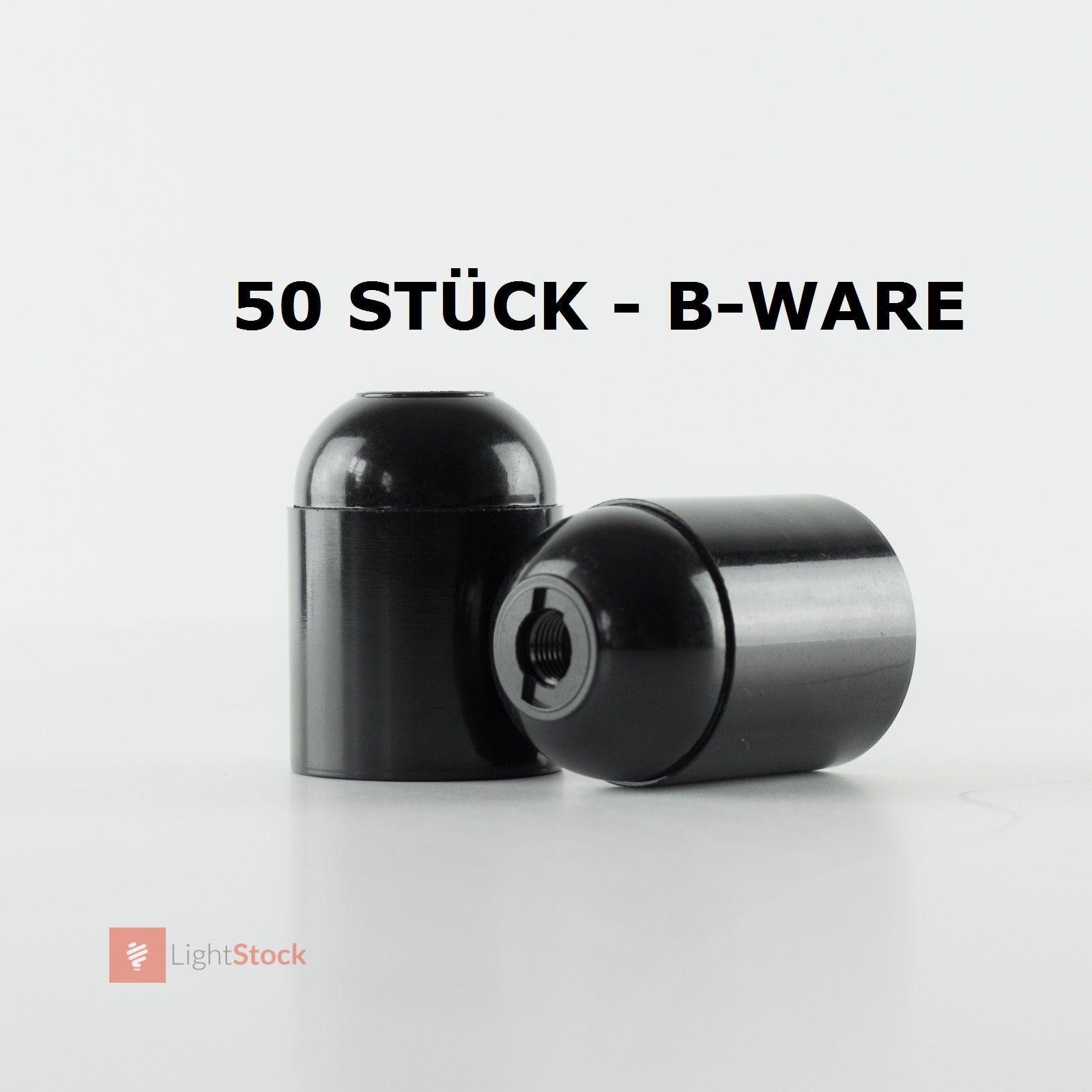 50 unidades-B-Ware art-deco, vintage estilo versión bakelitfassung e27, negro