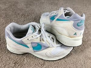 Details about Vintage Nike Air Icarus Shoes 1992 Womens 7.5 Off White Cream Blue Running 90s