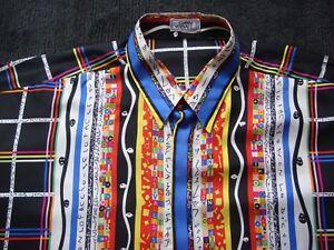5 10 Seidenhemd Gr Seide 54 Xl Shirt Hemd 9 Versace Silk zw1vnxPP