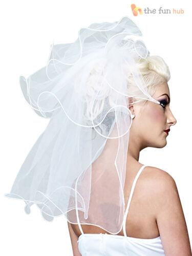 Ladies 80s Virgin Bride Bridal Fancy Dress Hen Do Party Disco Pop Icon Outfit