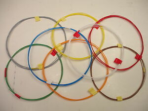 32-feet-stranded-32-AWG-Silver-Plated-PTFE-Tonearm-Wire-8-color-assortment-SPC