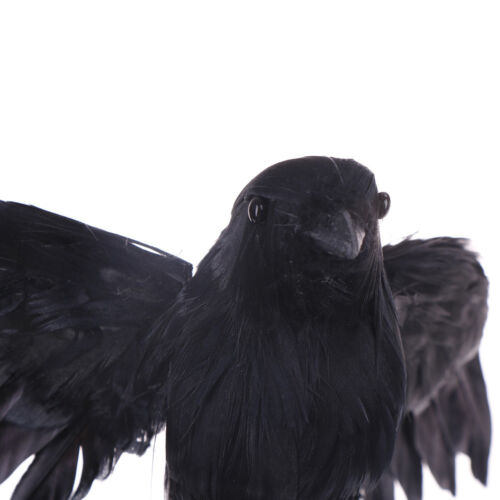 Artificial crow garden flocked halloween decoration birds crow decoy raven 9UKßß