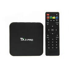 2017 4K S905x TX3 PRO Quad Core Android 6.0 TV Box Media Player Sport Live Movie