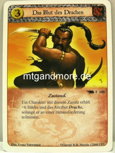 A Game of thrones lunaires-base set germano 1x le sang du dragon #100 t